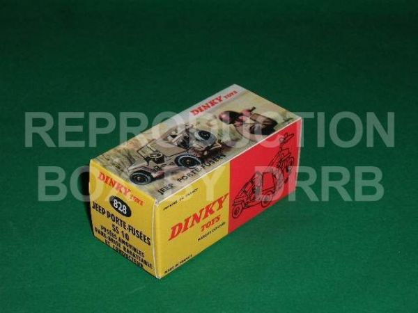 French Dinky #828 Jeep Porte Fusees - Reproduction Box
